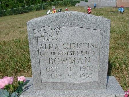 BOWMAN, ALMA CHRISTINE - Union County, Tennessee | ALMA CHRISTINE BOWMAN - Tennessee Gravestone Photos