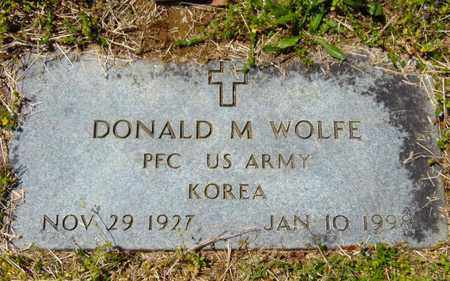 WOLFE  (VETERAN KOR), DONALD M - Union County, Tennessee | DONALD M WOLFE  (VETERAN KOR) - Tennessee Gravestone Photos