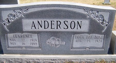 ANDERSON, CLARENCE - Warren County, Tennessee | CLARENCE ANDERSON - Tennessee Gravestone Photos