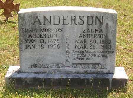 ANDERSON, ZACHA - Warren County, Tennessee   ZACHA ANDERSON - Tennessee Gravestone Photos