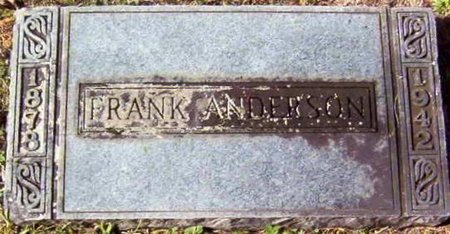 ANDERSON, FRANK - Warren County, Tennessee | FRANK ANDERSON - Tennessee Gravestone Photos