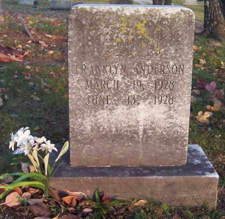 ANDERSON, FRANKLYN - Warren County, Tennessee | FRANKLYN ANDERSON - Tennessee Gravestone Photos