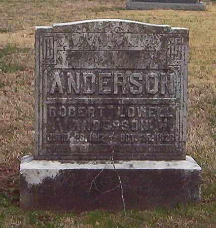 ANDERSON, ROBERT LOWELL - Warren County, Tennessee | ROBERT LOWELL ANDERSON - Tennessee Gravestone Photos
