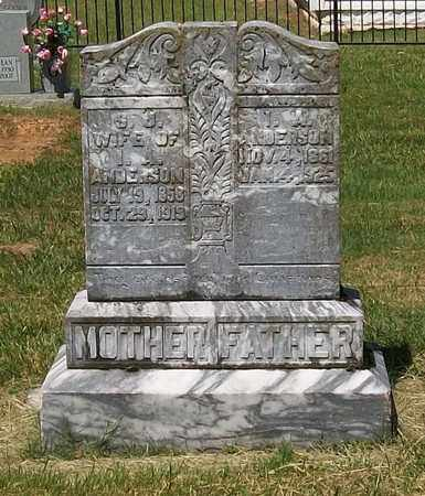 ANDERSON, S. J. - Warren County, Tennessee | S. J. ANDERSON - Tennessee Gravestone Photos