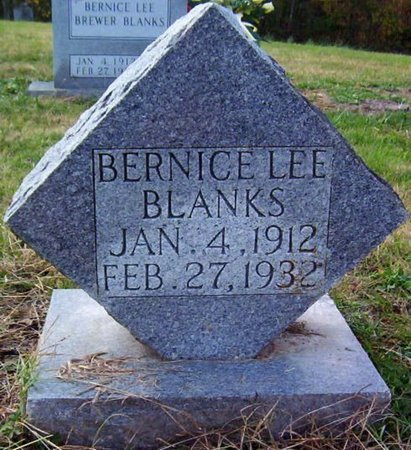 BLANKS, BERNICE LEE - Warren County, Tennessee | BERNICE LEE BLANKS - Tennessee Gravestone Photos