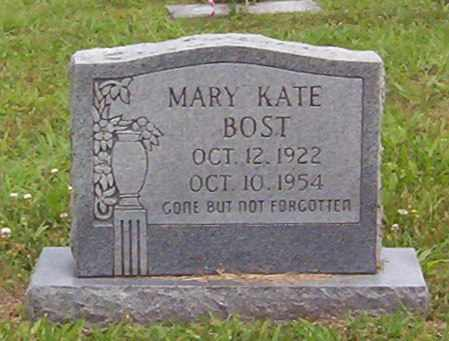 BOST, MARY KATE - Warren County, Tennessee | MARY KATE BOST - Tennessee Gravestone Photos