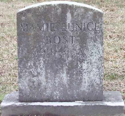 BOST, MAMIE EUNICE - Warren County, Tennessee | MAMIE EUNICE BOST - Tennessee Gravestone Photos