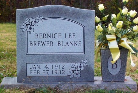 BREWER, BERNICE LEE - Warren County, Tennessee | BERNICE LEE BREWER - Tennessee Gravestone Photos