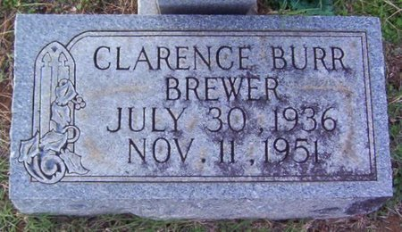 BREWER, CLARENCE BURR - Warren County, Tennessee | CLARENCE BURR BREWER - Tennessee Gravestone Photos