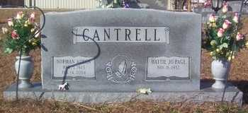 CANTRELL, NORMAN ADRON - Warren County, Tennessee | NORMAN ADRON CANTRELL - Tennessee Gravestone Photos