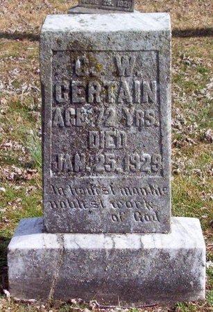 CERTAIN, G. W. - Warren County, Tennessee | G. W. CERTAIN - Tennessee Gravestone Photos
