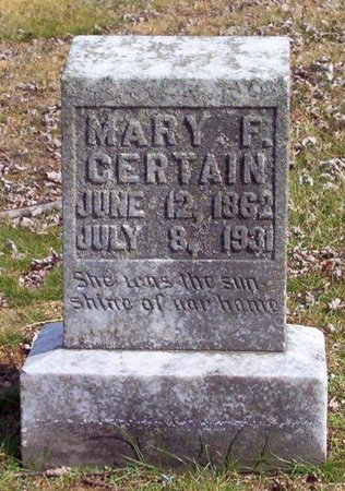 CERTAIN, MARY P. - Warren County, Tennessee | MARY P. CERTAIN - Tennessee Gravestone Photos