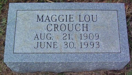 CROUCH, MAGGIE LOU - Warren County, Tennessee | MAGGIE LOU CROUCH - Tennessee Gravestone Photos