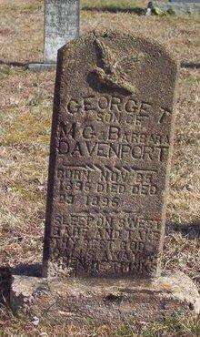 DAVENPORT, GEORGE T. - Warren County, Tennessee | GEORGE T. DAVENPORT - Tennessee Gravestone Photos