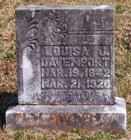 DAVENPORT, LOUISA J. - Warren County, Tennessee | LOUISA J. DAVENPORT - Tennessee Gravestone Photos