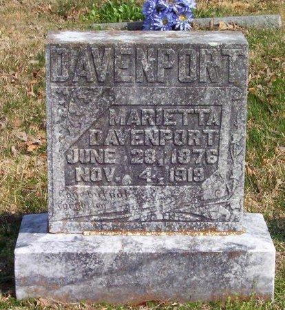 DAVENPORT, MARIETTA - Warren County, Tennessee | MARIETTA DAVENPORT - Tennessee Gravestone Photos