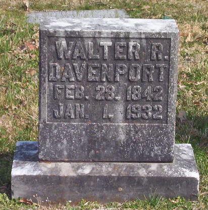 DAVENPORT, WALTER R. - Warren County, Tennessee | WALTER R. DAVENPORT - Tennessee Gravestone Photos