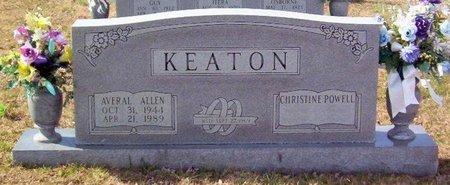 KEATON, AVERAL ALLEN - Warren County, Tennessee | AVERAL ALLEN KEATON - Tennessee Gravestone Photos