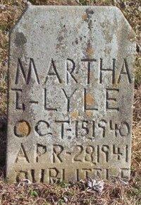 LYLE, MARTHA - Warren County, Tennessee   MARTHA LYLE - Tennessee Gravestone Photos