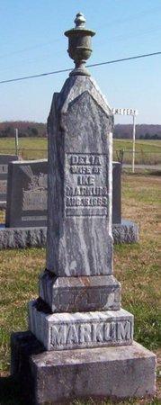MARKUM, DELIA - Warren County, Tennessee   DELIA MARKUM - Tennessee Gravestone Photos