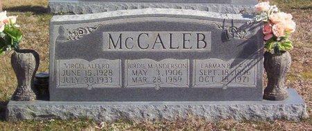 MCCALEB, EARMAN PETWAY - Warren County, Tennessee   EARMAN PETWAY MCCALEB - Tennessee Gravestone Photos