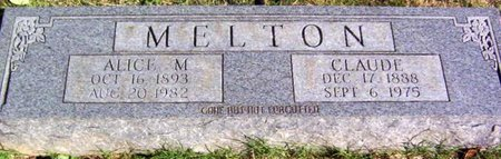 MELTON, CLAUDE - Warren County, Tennessee | CLAUDE MELTON - Tennessee Gravestone Photos