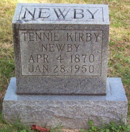 KIRBY NEWBY, TENNIE - Warren County, Tennessee | TENNIE KIRBY NEWBY - Tennessee Gravestone Photos