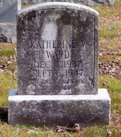 WARD, KATHERINE V. - Warren County, Tennessee | KATHERINE V. WARD - Tennessee Gravestone Photos