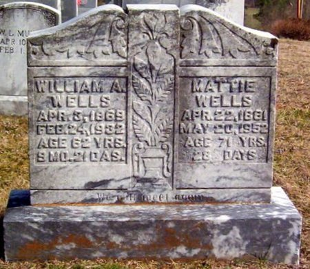 WELLS, WILLIAM A. - Warren County, Tennessee | WILLIAM A. WELLS - Tennessee Gravestone Photos