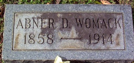 WOMACK, ABNER D. - Warren County, Tennessee | ABNER D. WOMACK - Tennessee Gravestone Photos