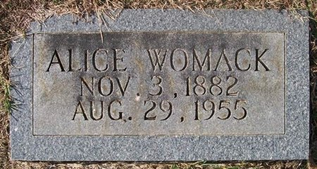 WOMACK, ALICE - Warren County, Tennessee | ALICE WOMACK - Tennessee Gravestone Photos