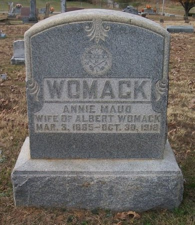 WOMACK, ANNIE MAUD - Warren County, Tennessee | ANNIE MAUD WOMACK - Tennessee Gravestone Photos