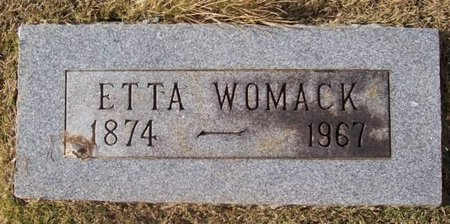 WOMACK, ETTA - Warren County, Tennessee | ETTA WOMACK - Tennessee Gravestone Photos