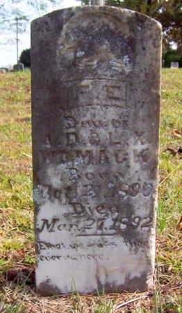 WOMACK, F. E. - Warren County, Tennessee | F. E. WOMACK - Tennessee Gravestone Photos