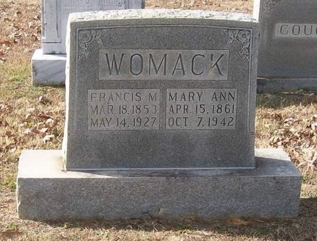 WOMACK, FRANCIS M. - Warren County, Tennessee | FRANCIS M. WOMACK - Tennessee Gravestone Photos