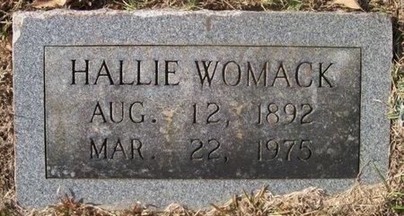 WOMACK, HALLIE - Warren County, Tennessee   HALLIE WOMACK - Tennessee Gravestone Photos