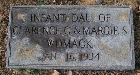 WOMACK, INFANT DAU. - Warren County, Tennessee | INFANT DAU. WOMACK - Tennessee Gravestone Photos
