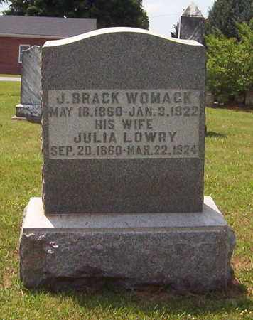WOMACK, JULIA - Warren County, Tennessee | JULIA WOMACK - Tennessee Gravestone Photos