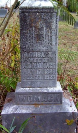 WOMACK, LOUISA X. - Warren County, Tennessee | LOUISA X. WOMACK - Tennessee Gravestone Photos