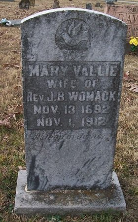 WOMACK, MARY VALLIE - Warren County, Tennessee | MARY VALLIE WOMACK - Tennessee Gravestone Photos