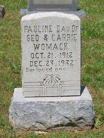 WOMACK, PAULINE - Warren County, Tennessee | PAULINE WOMACK - Tennessee Gravestone Photos