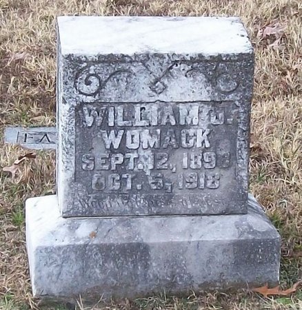 WOMACK, WILLIAM J. - Warren County, Tennessee | WILLIAM J. WOMACK - Tennessee Gravestone Photos