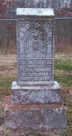 WOMACK, ZETTA - Warren County, Tennessee | ZETTA WOMACK - Tennessee Gravestone Photos