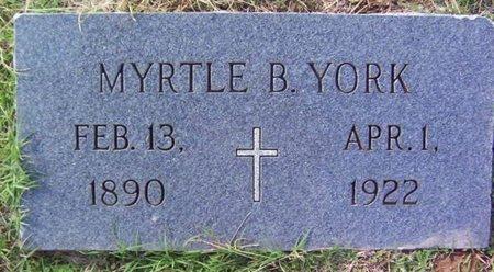 YORK, MYRTLE B. - Warren County, Tennessee   MYRTLE B. YORK - Tennessee Gravestone Photos