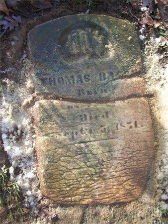 BACON, SR., THOMAS - Washington County, Tennessee   THOMAS BACON, SR. - Tennessee Gravestone Photos