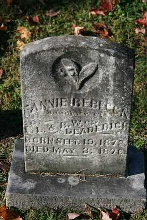 DEADERICK, FANNIE REBECCA - Washington County, Tennessee   FANNIE REBECCA DEADERICK - Tennessee Gravestone Photos