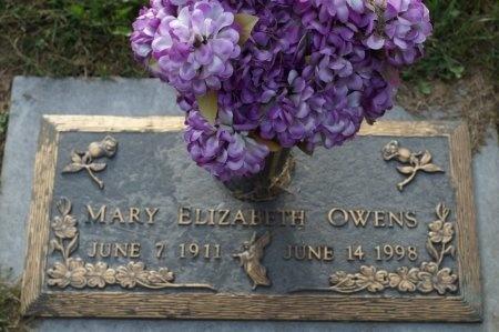OWENS, MARY ELIZABETH - Washington County, Tennessee   MARY ELIZABETH OWENS - Tennessee Gravestone Photos