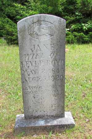 BOYD, JANE - Wayne County, Tennessee   JANE BOYD - Tennessee Gravestone Photos