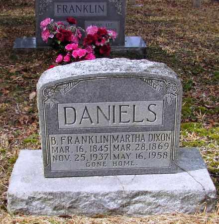 DANIELS, B. FRANKLIN - Wayne County, Tennessee | B. FRANKLIN DANIELS - Tennessee Gravestone Photos