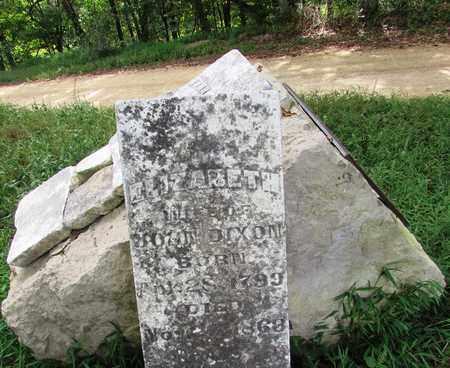DIXON, ELIZABETH (ORIGINAL STONE) - Wayne County, Tennessee   ELIZABETH (ORIGINAL STONE) DIXON - Tennessee Gravestone Photos